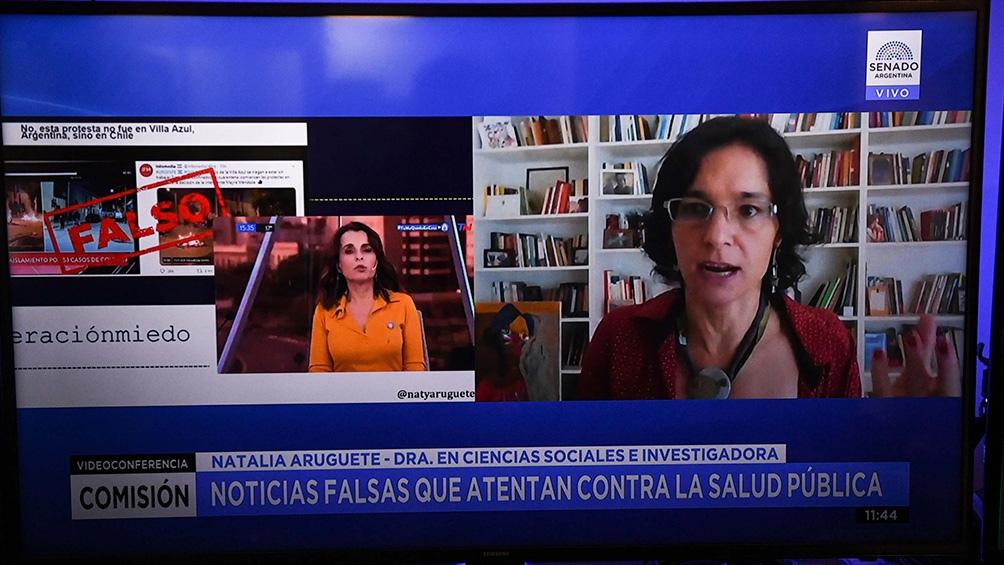 """Natalia Aruguete, investigadora del Conicet y coautora del libro """"Fake news, trolls y otros encantos""""."""