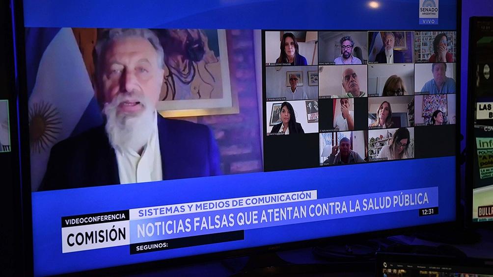 El presidente de la Comisión de Sistemas, Medios de Comunicación y Libertad de Expresión, el senador Alfredo Luenzo (Frente de Todos-Chubut).