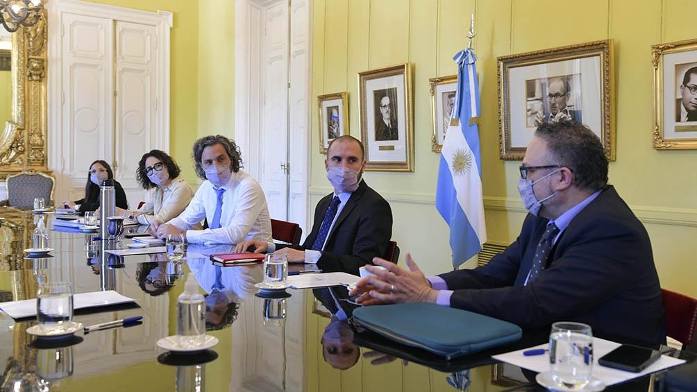 Reunión del gabinete económico en Casa Rosada