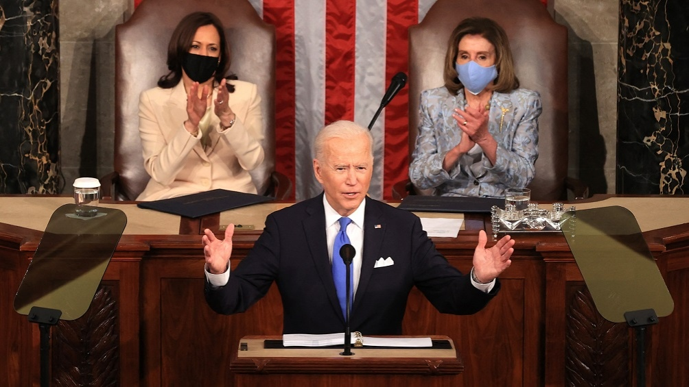 Biden defendió su gestión económica en sus primeros 100 días de gobierno