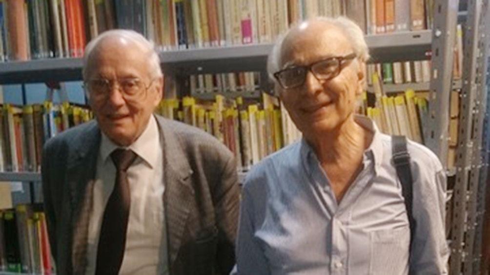 Julio César Neffa y Héctor Cordone, miembros fundadores del Centro de Estudios e Investigaciones Laborales.