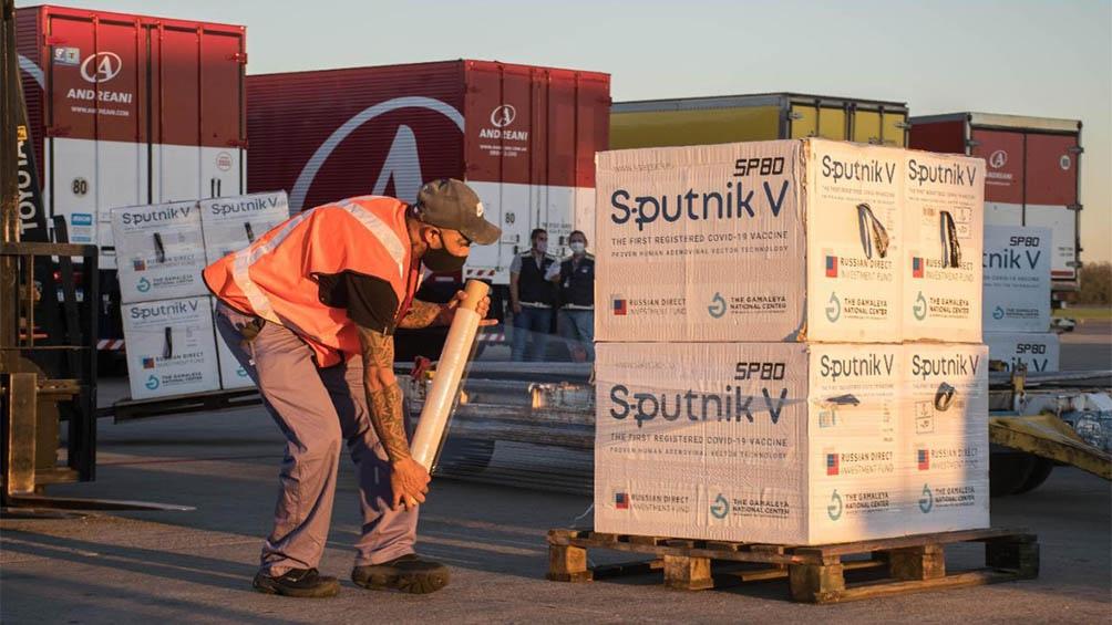Llegaron 765.545 dosis de la vacuna Sputnik V