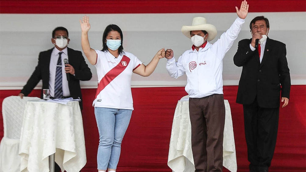 Keiko Fujimori y Pedro Castillo a todo o nada por la presidencia peruana