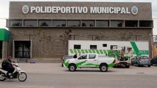La Provincia montó un hospital de campaña en el polideportivo Maradona para sumar camas