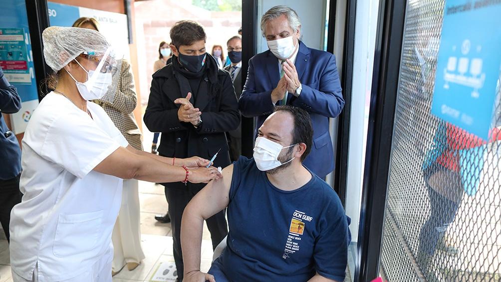 El presidente Alberto Fernández visitó la Unidad Sanitaria Ambiental de la Autoridad de Acumar.