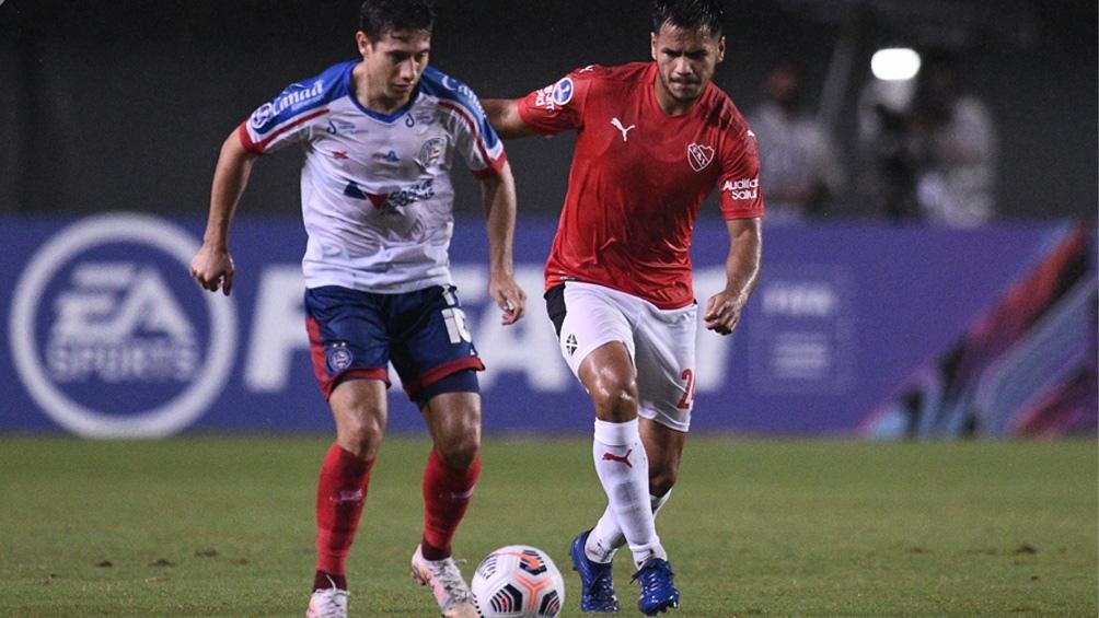 Independiente, sobre el final, sufrió el empate de Bahía en Brasil