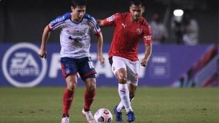 Independiente se hizo fuerte en la adversidad y logró un buen empate en Brasil