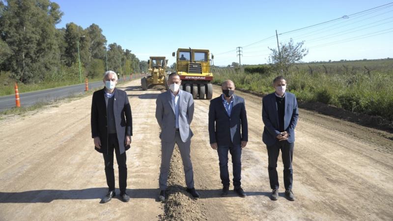 Katopodis dio inicio a las obras para la autovía Ensenada-La Plata
