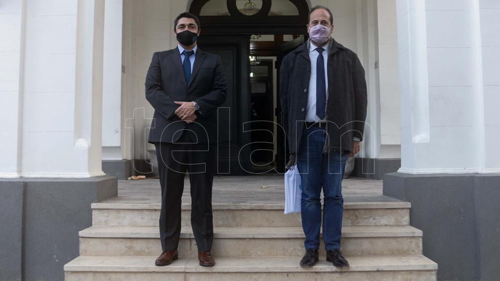 Villalba también se reunió con el ministro de Seguridad de Santa Cruz, Lisandro de la Torre.