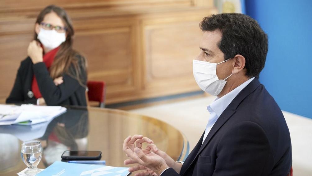 De Pedro y Gómez Alcorta durante la capacitación por la Ley Micaela.