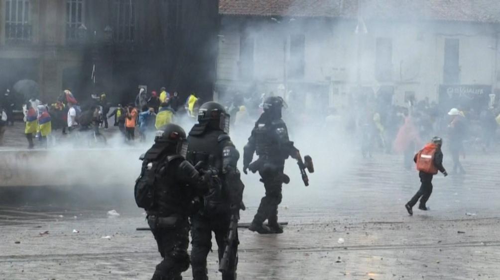 Más de días de protestas en Colombia.
