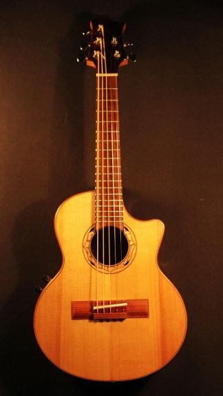 Una guitarra acústica bahiana.