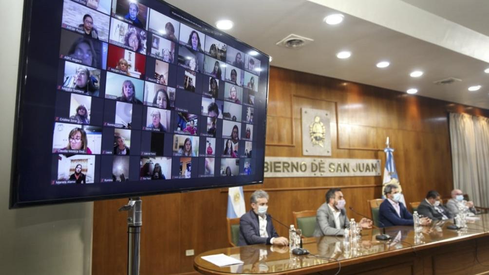 Juan Cabandié anunció obras por 163 millones en San Juan. Foto: Prensa Ministerio de Medio Ambiente