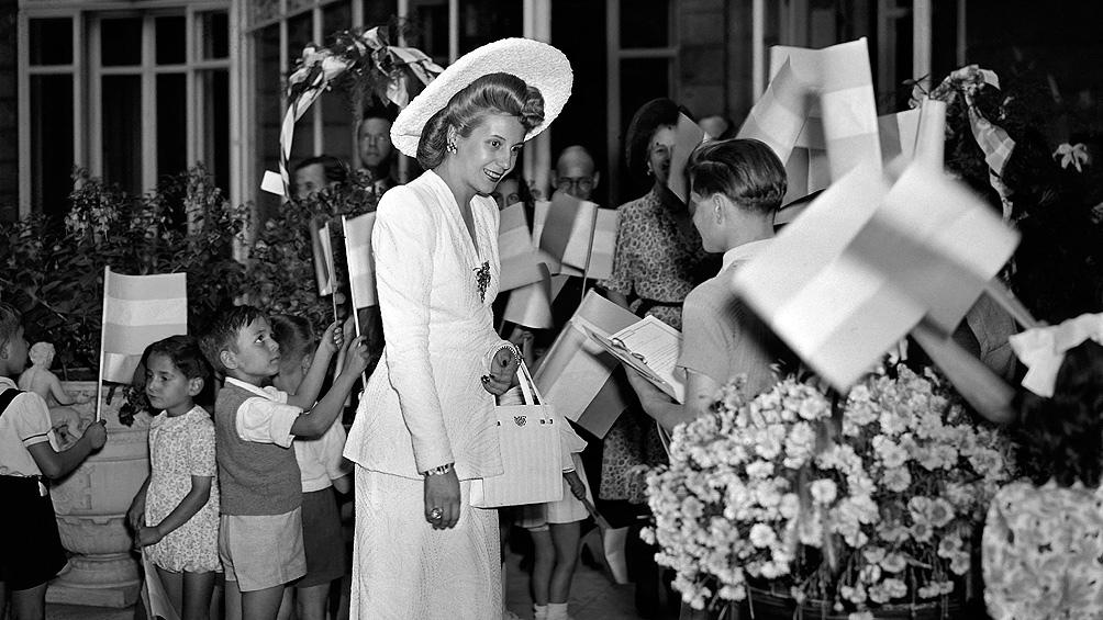 Durante la jornada se conmemora el 69 aniversario del fallecimiento de Eva Perón