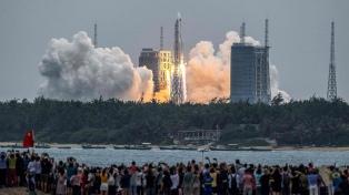 Cómo es el cohete chino fuera de control