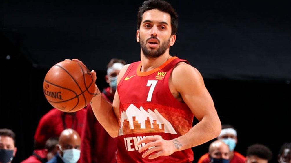 Campazzo cumplió una gran actuación en el triunfo de los Nuggets en los playoffs de la NBA
