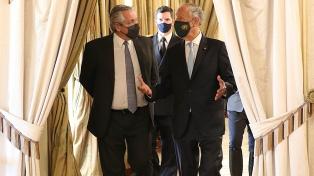 El presidente Alberto Fernández destacó el trabajo de Martín Guzmán ante el FMI