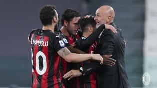 Milan venció en su visita a Juventus y lo dejó fuera de la zona de Champions