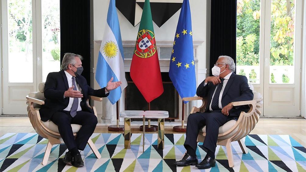 GIRA EUROPEA: Alberto Fernández, reunido con el primer ministro de Portugal en Lisboa