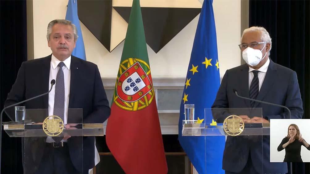 Fernández agradeció el apoyo del gobierno portugués.