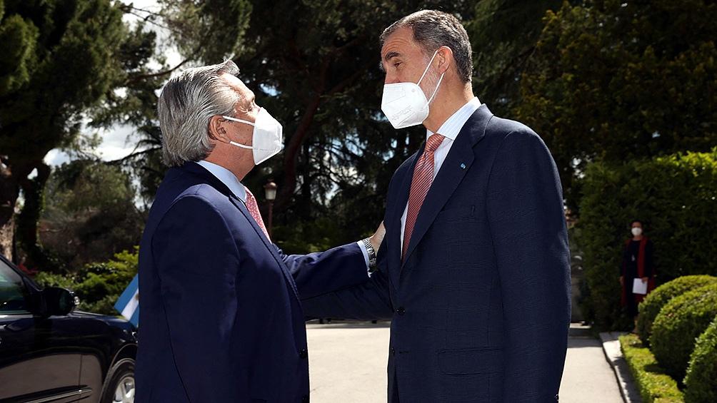 Alberto Fernández le agradeció al rey Felipe VI