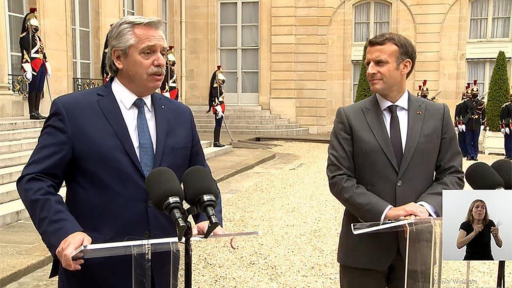 GIRA EUROPEA – Fernández: «Quiero públicamente agradecer que siempre Francia nos acompañó»
