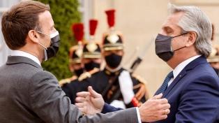 """Macron a Fernández: """"Francia está de su lado"""" en la renegociación de la deuda"""