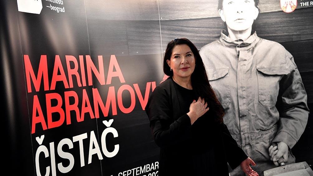"""La artista serbia Marina Abramovic es conocida como la reina de la """"performance"""""""