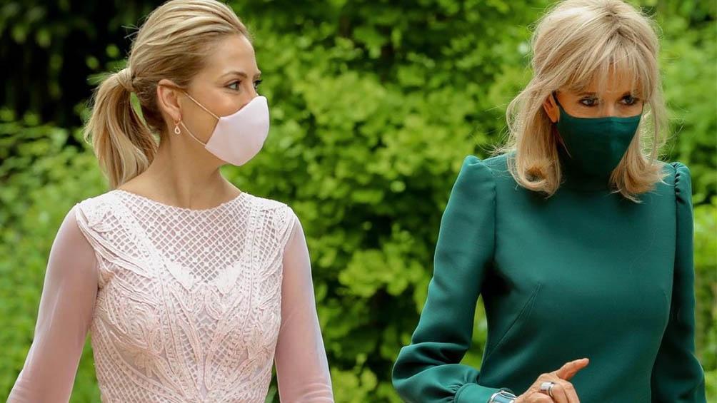 Ambas mujeres compartieron un almuerzo en el Ministerio de Educación Nacional de Francia.
