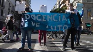 Gremios protestaron frente a la sede del Gobierno porteño