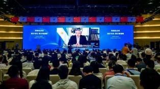 Fernández participó de forma virtual en una conferencia de comercio electrónico realizada en China