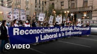 Protestas de enfermeras y enfermeros en todo el país por mejoras salariales y laborales
