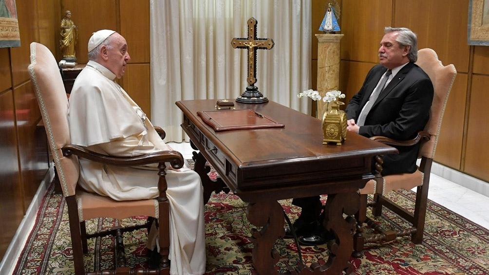 El encuentro en el Vaticano entre el Papa y el presidente.