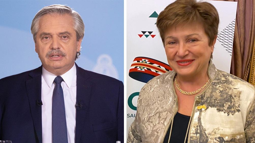 O Presidente Alberto Fernández e Kristalina Georgieva