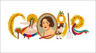 Un doodle dedicado a la pintora Zofia Stryjenska, a 130 años de su nacimiento