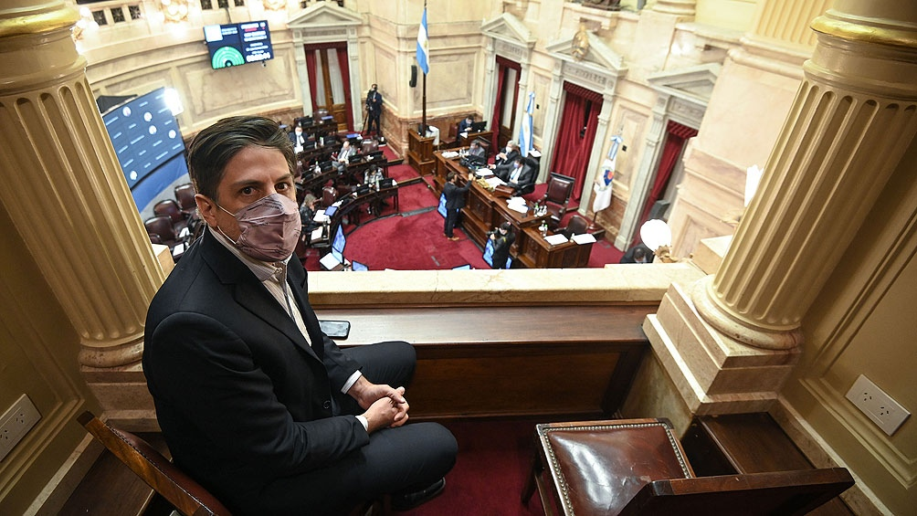 El ministro Trotta presenció la sesión del Senado y celebró la aprobación de la norma en Twitter.