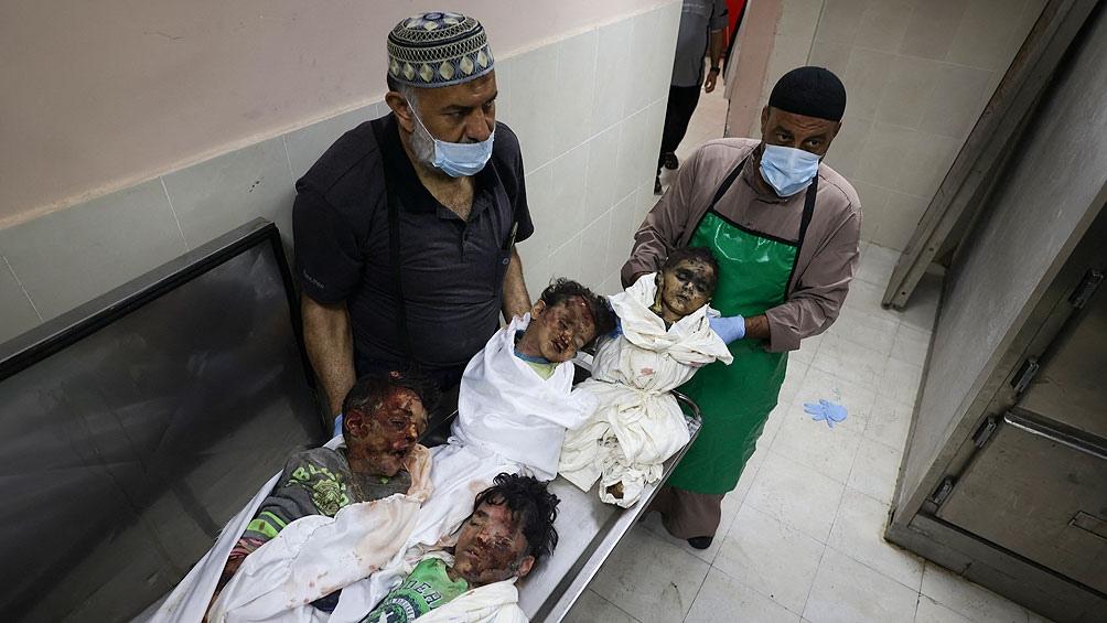 Muchos de los fallecidos por los bombardeos son infantes