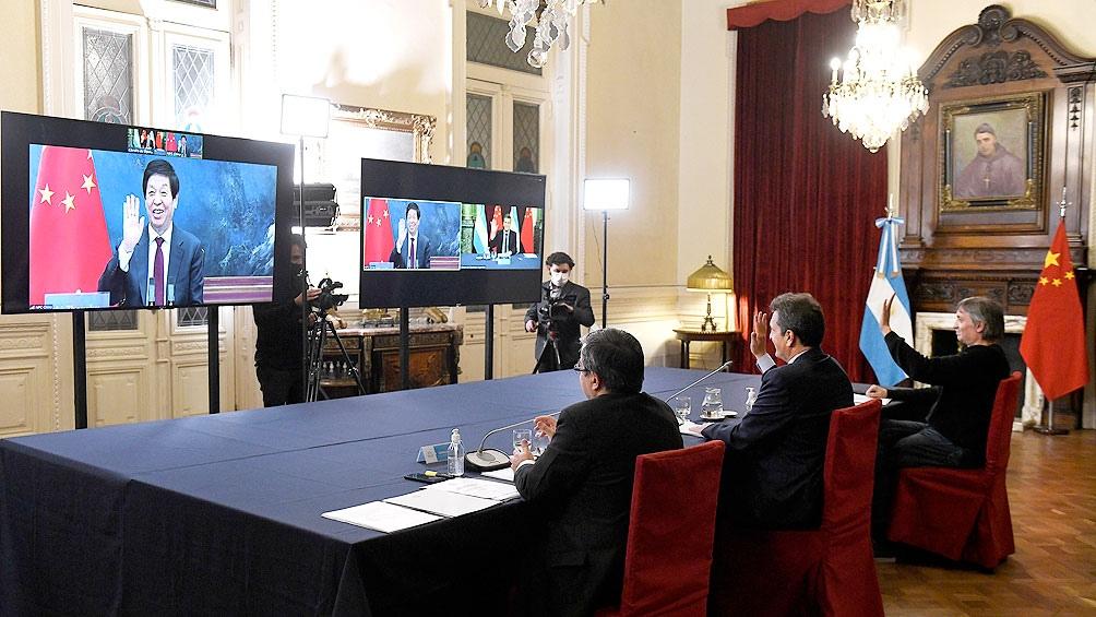 Videoconferencia que mantuvieron Sergio Massa y Máximo Kirchner