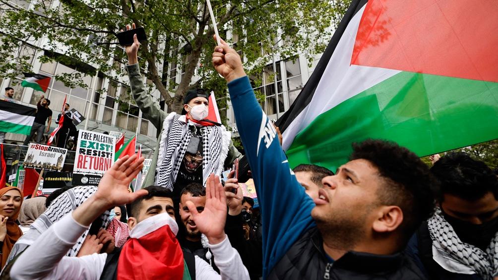 Las convocatorias se dieron en medio de una ofensiva israelí contra la Franja de Gaza.