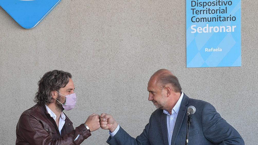 Cafiero junto a Perotti inauguran un Dispositivo de Abordaje Territorial para tratamiento y prevención de jóvenes vulnerables.