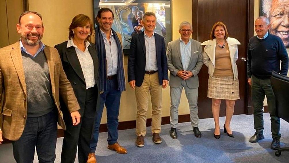 Macri se mostró junto con Bullrich y los líderes del PRO de la provincia de Salta.