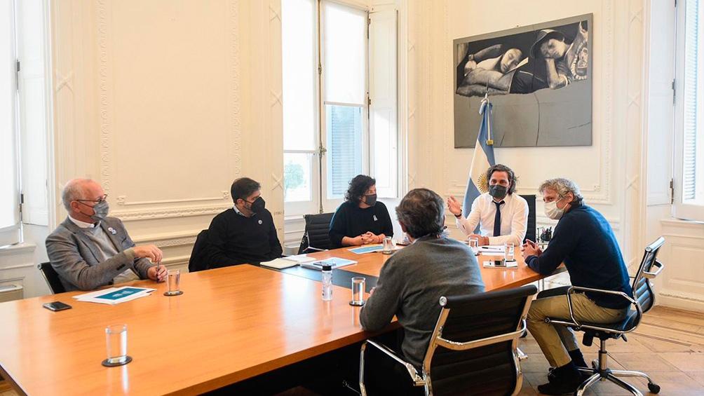 Reunión entre Nación, ciudad y provincia de Buenos Aires.