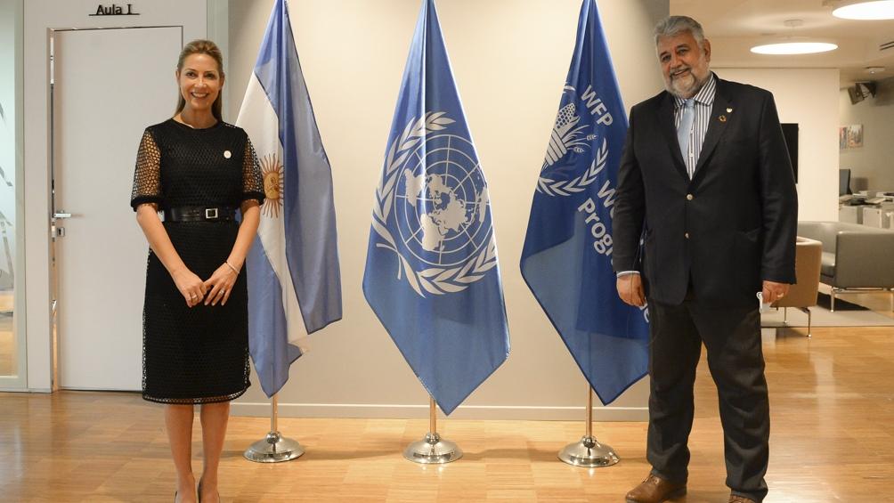 La primera dama visitó la sede del Programa Mundial de Alimentos de Naciones Unidas