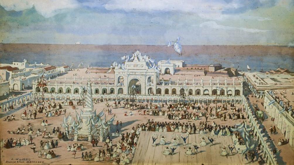 El festejo del 25 de Mayo en Buenos Aires, en 1830.