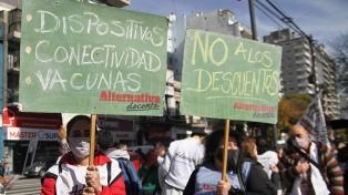 """Ciudad: UTE para el lunes en reclamo de clases """"virtuales y vacunación"""""""