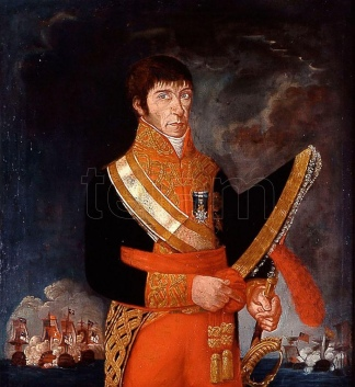"""El Virrey Baltasar Hidalgo de Cisneros, apodado """"El Sordo""""."""