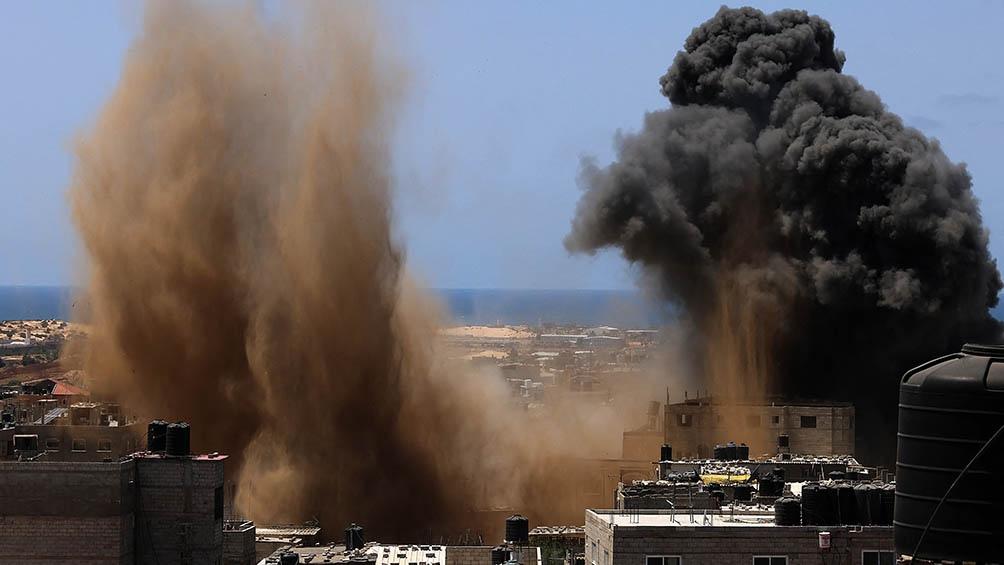 Israel respondió al lanzamiento de cohetes por parte de Hamas bombardeando Gaza.
