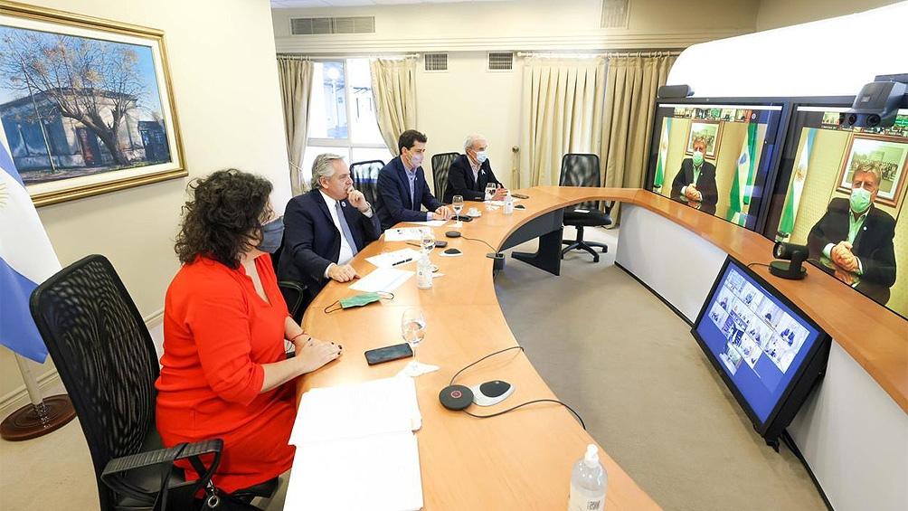 Los gobernadores se reunieron con el Presidente de forma virtual.