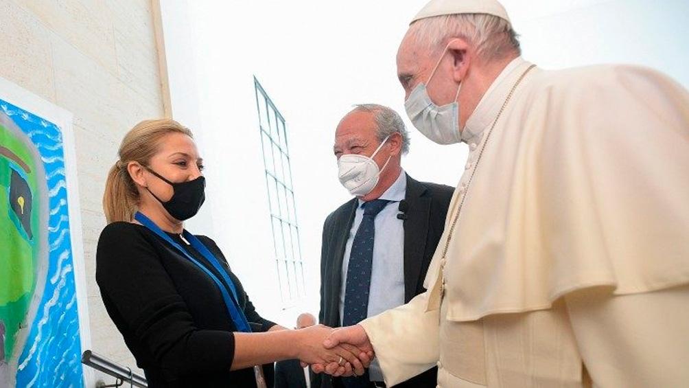 """En el encuentro en Roma, Fabiola pidió """"contruir unión y solidaridad""""."""