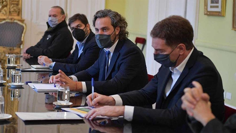 La reunión se llevó acabo luego de que el presidente Alberto Fernández anunciara el jueves un aislamiento estricto por nueve días.